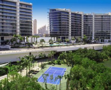 Prive Aerial Tennis Court